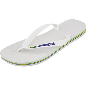 havaianas Brasil Logo - Sandalias Hombre - blanco